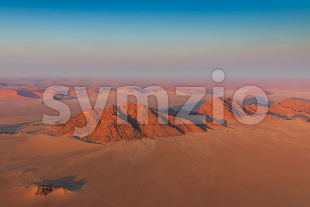 Aerial view of mountains sanddunes Sosusvlei Stock Photo