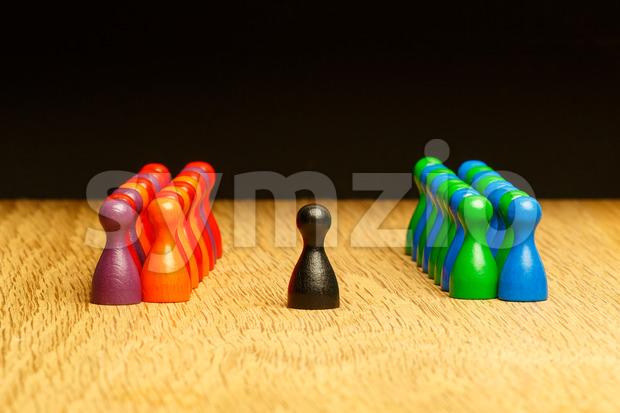 Concept team, leader, leadership, adoration oak background Stock Photo