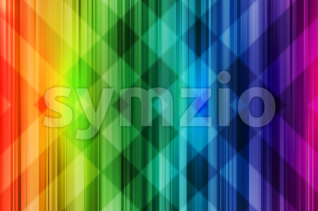 Rainbow background colorful intersect pattern Stock Photo