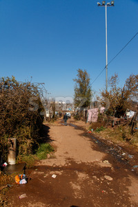 JOHANNESBURG, SOUTH AFRICA - JUNE 22,, 2014: Water tap point on street of township soweto Stock Photo