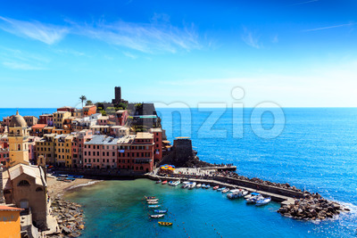Vernazza cinque terre Italy coast Stock Photo