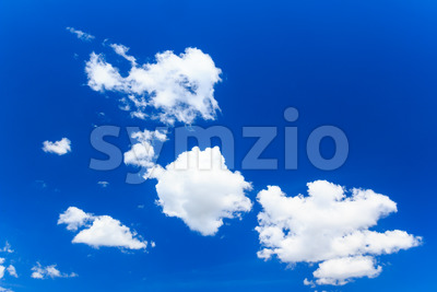 Blue sky with several clouds Stock Photo