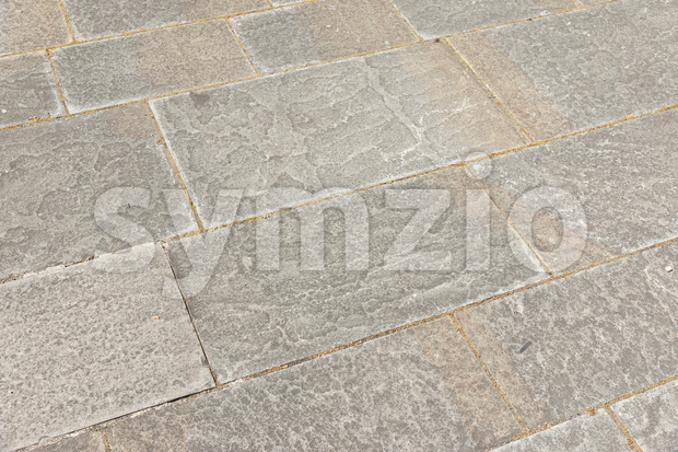 Big stone paved street Stock Photo