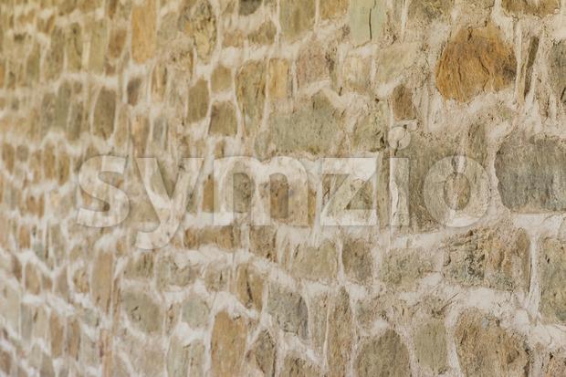 Medieval wall monastery Italy Stock Photo
