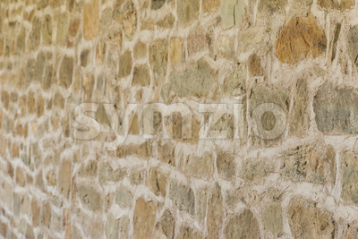 Medieval wall monastery Italy Stock Photo