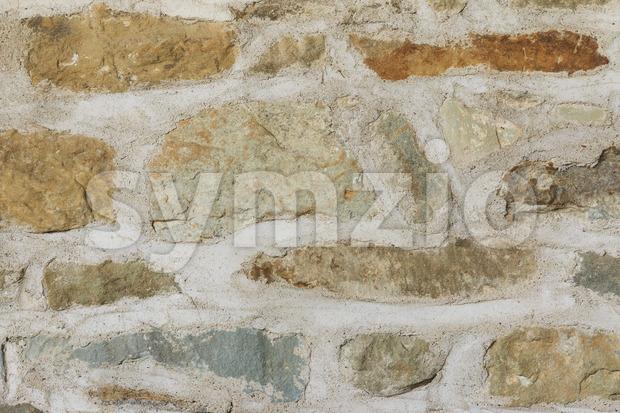 Medieval brick wall close up Stock Photo