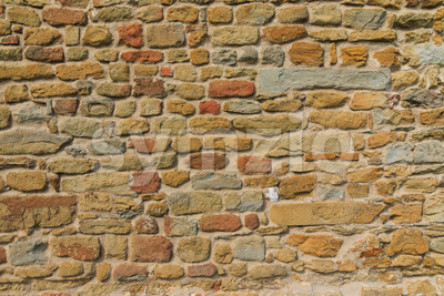 Rough old brick wall Stock Photo
