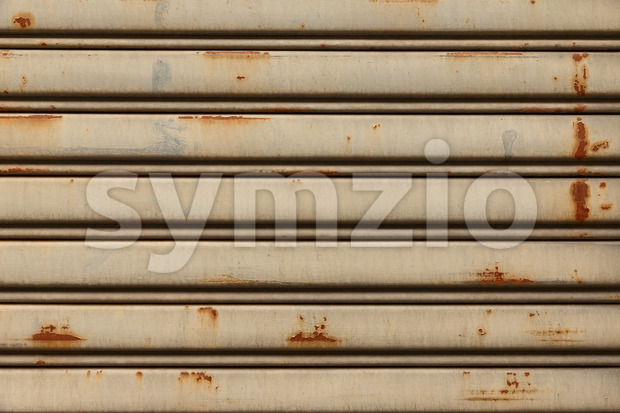 Vintage and grunge iron sliding door Stock Photo