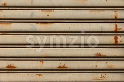 Vintage and grunge iron sliding door Stock Photo