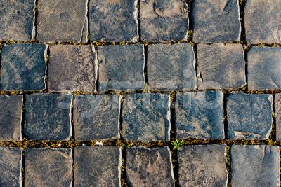Old square street stones Stock Photo