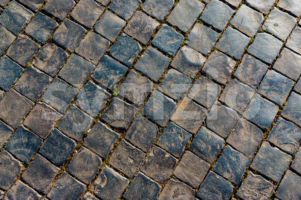 Old street stones pattern Stock Photo
