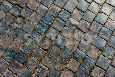 Old street stones pattern Stock Photo