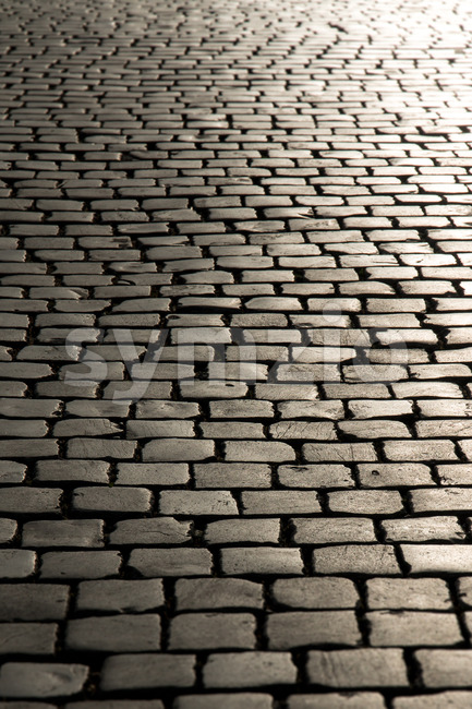 Endless old streets Europe Stock Photo