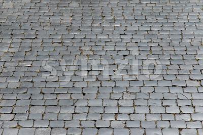 Gray street stones Stock Photo