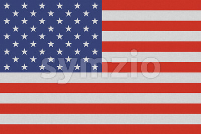 USA American national flag on linen texture Stock Photo