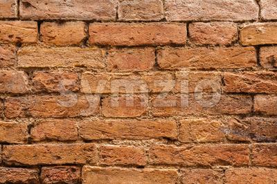 Close-up of old Italian wall Stock Photo