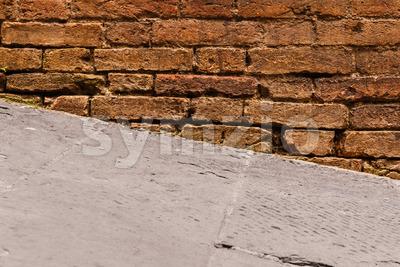 Close-up steep walkway Stock Photo