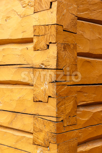 Stacked beam connection building Scandinavia Stock Photo