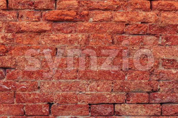 Vintage red brick wall close up Stock Photo