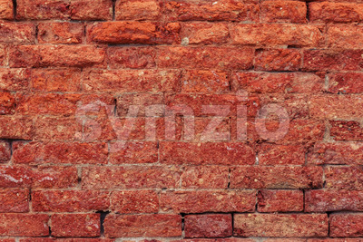 Vintage red brick wall close up Stock Photo