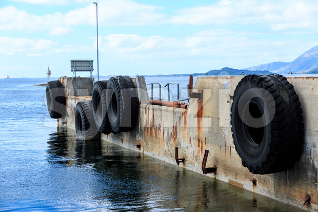 Old ferry dock Norway, Europe Stock Photo
