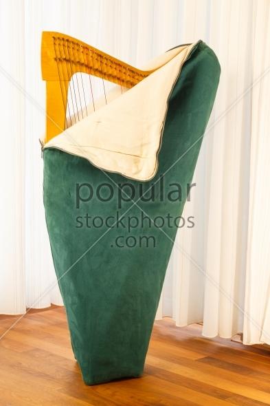 Celtic harp unpacking