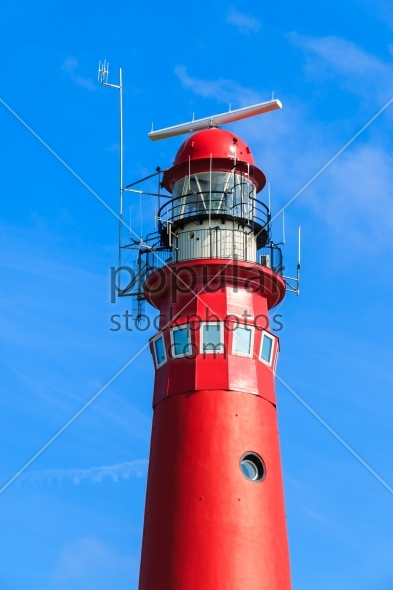 Red lighthouse close-up