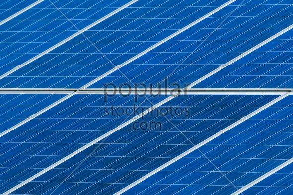 Solar panels grid close up