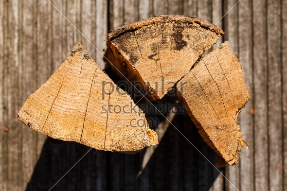 Close up of chopped fire wood pieces