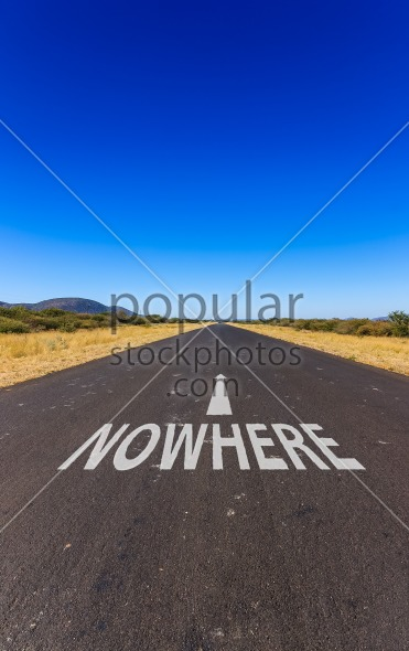Road to nowhere text Namibia Africa