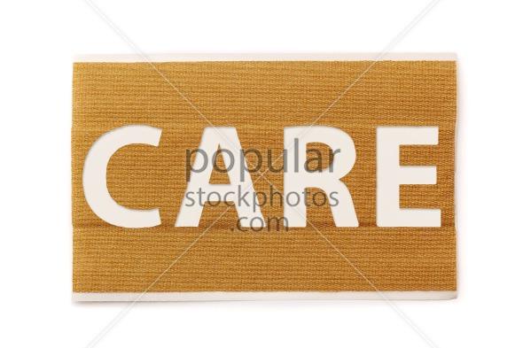 Band aid strip care text