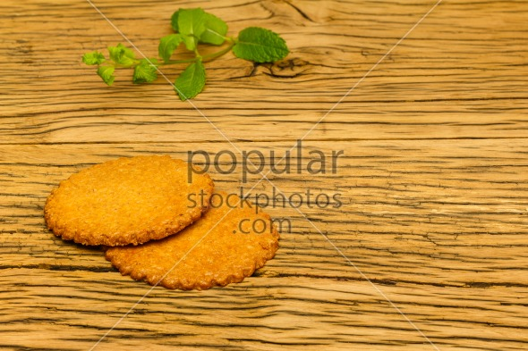 Healthy tasty cookies wood decoration