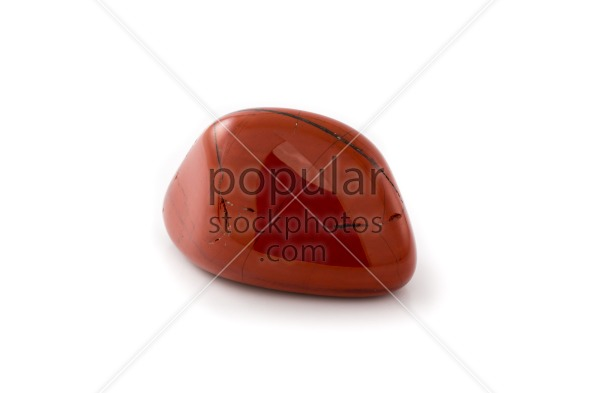 Red jasper gem white background