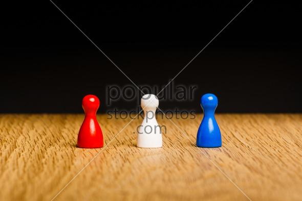 Concept red white blue team
