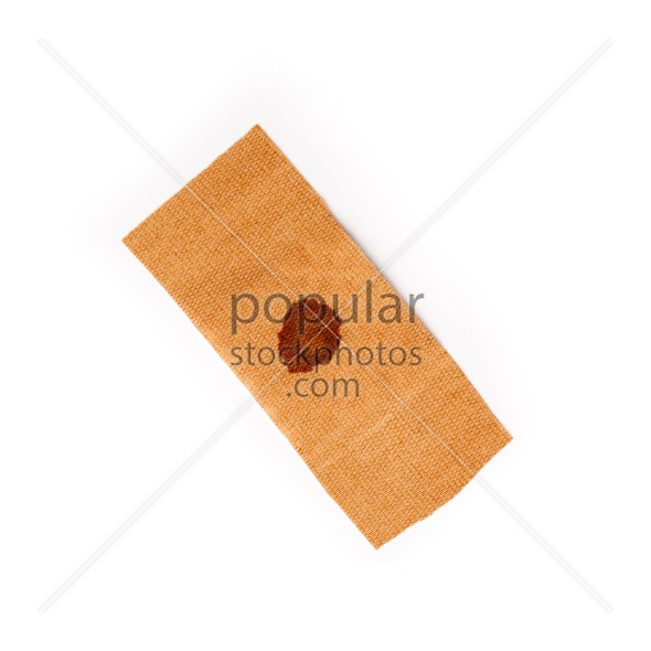 Band aid dried blood isolated white